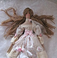 Tilda doll/ Tilda doll with goose/Fabric doll/ Collectible doll/ Textile doll /Shabby chic style/ Tilda pattern doll/ Gift for her