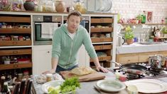 Obsessed with Jamie's kitchen in his 15 min meals series! It's our next project!