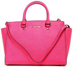 Hot pink Michael Kors Selma bag