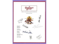 A Christmas Story Movie Script Signed Screenplay Autographed: Peter Billingsley, Ian Petrella, Darren McGavin, Melinda Dillon