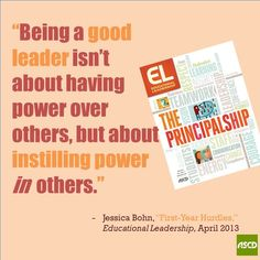 Misconceptions, challenges and tips for being a new principal in the April #ELmag.