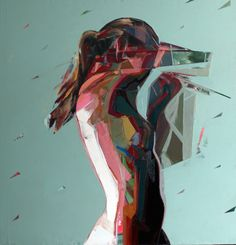 Simon Birch is a British-born artist who makes paintings of naked women, both very colorful and very graphic giving a sense, almost abstract representation. The representation of movement is a key element of the artist's works.
