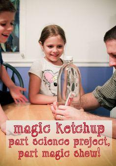 Good, clean fun for kids! Magic Ketchup – Part Science Experiment, Part Magic Show