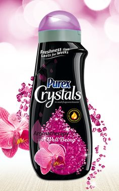 Purex Crystals Aromatherapy – Well Being laundry enhancer brightens any mood with the happy fragrance of fresh blossoms.