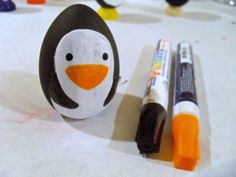 Just A Little Creativity: Easy DIY Wood Penguin Christmas Ornaments- Christmas Fun for Kids Christmas Bird, Winter Christmas, Christmas Crafts, Christmas Decorations, Christmas Ornaments, Christmas Ideas, Penguin Ornaments, Bird Ornaments, Homemade Gifts