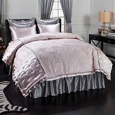 Hutton Wilkinson L'Amour 4-piece Satin Comforter Set at HSN.com.