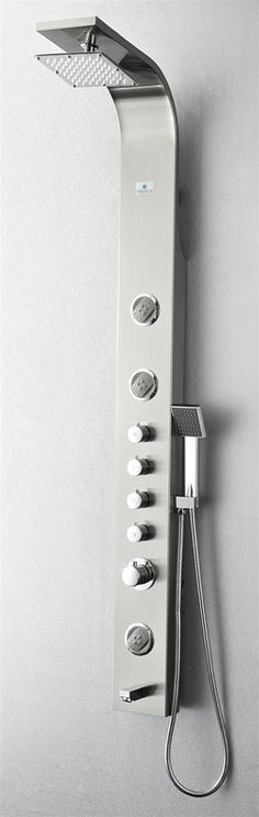 Aston Global Shower Panel System With Four Body Jets In Aluminum SPAL804  $269.00 | Shower Panels | Pinterest | Shower Panels And Jets