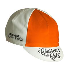 Chasseur de Cols Cycle Cap - White & Orange