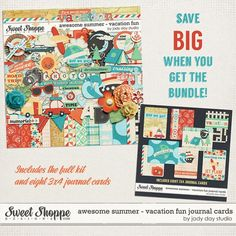 **NEW** Awesome Summer - Vacation Fun Bundle by Jady Day Studio