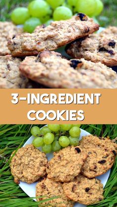 Healthy Cookies Recipe with banana oats and raisins Can be made gluten free No sugar no butter no flour and easy to make vegan veganrecipe vegancookie healthyrecipe healthytreat Healthy Cookie Recipes, Healthy Sweets, Healthy Baking, Healthy Drinks, Baby Food Recipes, Healthy Snacks, Vegan Recipes, Cooking Recipes, Party Recipes