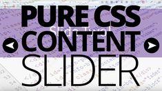 Simple CSS Content Slider! [VOICE TUTORIAL]