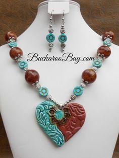 Flower Power Cowgirl Necklace & Earring Set A BuckarooBay.com Original Buckaroo Bay Cowgirl Accessories & Western Jewelry