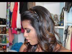 Penteado Solto para Formatura - Tiara de Trança - YouTube