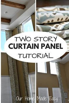 An easy How - To for any size of curtain panel length!
