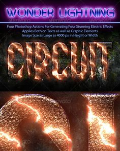 Photoshop Electric Effect Action Pack