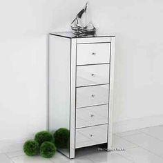 julianna verspiegelte grosse kommode mit 5 schubladen. Black Bedroom Furniture Sets. Home Design Ideas