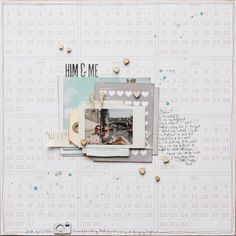 #papercraft #scrapbook #layout    Him & Me by MissSmith at @Studio_Calico