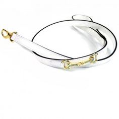 Horse & Hound Lead in White Patent