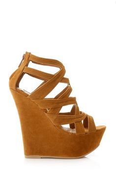 6f94eed74dad Open Toe Suede Wedge. I want them they will make me look taller 😜 Brown