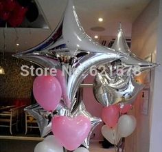 Cheap balloon price, Buy Quality balloon balloon directly from China balloon tank Suppliers:  wholesale 100pcs/lot 5 Inch Five-Point Star sha