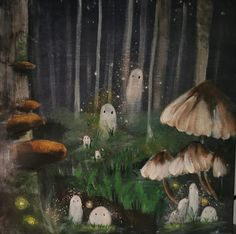 Forest Painting, Forest Art, Forest Drawing, Magical Forest, Art And Illustration, Illustrations, Pretty Art, Cute Art, Inspiration Artistique