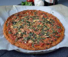 Roasted Garlic Pizza with Sweet Potato Crust recipe [gluten free, vegan]