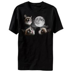 A Three Grumpy Cat Moon T-Shirt Is Finally Here! I HAVE to have this shirt!!!!  @Becky Hui Chan Kraft look what they have!!!!