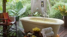 When I think of Bali, I think of sumptuous garden baths.