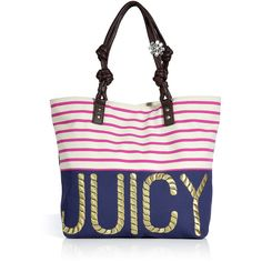 5588f44dc0c4 JUICY COUTURE Multi Sailor Girl Canvas Juicy Tote Summer Tote Bags