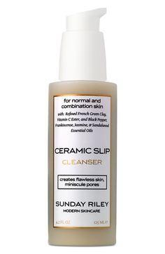 Sunday Riley | 'Ceramic Slip' Cleanser. Invigorating fresh scent I love in the morning, leaves a silky finish on the skin.