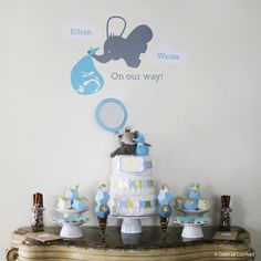 lovely-elephant-themed-baby-shower baby is on the way