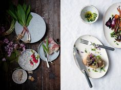 Photo Fridays: 5 tips for Beautiful Food Photography Composition 5. Create drama with diagonal movement: compose your scene so that dishes and props seem to be cascading down the frame.