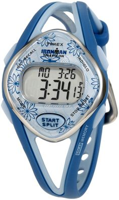 Timex Women's T5K509 Ironman Sleek 50-Lap Blue Resin Strap Watch * You can get additional details at the image link.