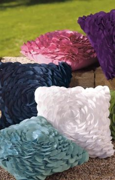 Peony Outdoor Throw Pillows.