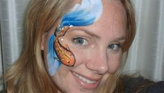 face painting Lisa Joy Young | Koi Fish Face Paint Design VIDEO Tutorial—Face Painting Tips Shop