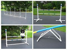 As your dog progresses in Agility, the tools to train him / her also progress. This Agility Gear Advanced Training Package includes four obstacles to keep your dog challenged. It includes a Teeter Base, two Competition Jumps, and a set of Weave Poles Agility Training For Dogs, Training Kit, Dog Training Classes, Training Your Puppy, Dog Agility, Dog Training Tips, Training Online, Training School, Dog Playground