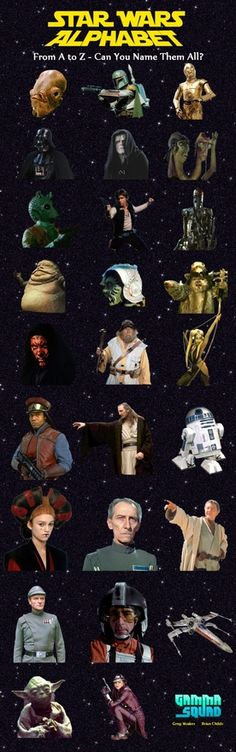 Star Wars Alphabet - can you name them all?
