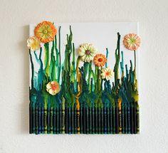 Artistic Life: Grandma's Garden- Crayon Art