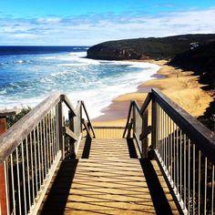 Surfs Up.  #bellsbeach #greatoceanroad #victoria #australia #seeaustralia #beach #surf #ripcurlpro #travel by ashleigh.sage http://ift.tt/1KnoFsa
