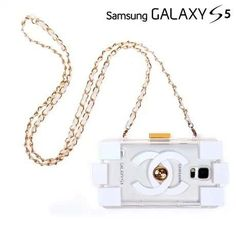 Chanel electroplate building block Samsung Galaxy S5 cases white Free Shipping - Deluxeiphonecase.com