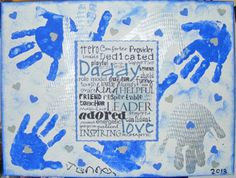 Activity Idea: Father's Day Canvas Hand prints! #Fathersday