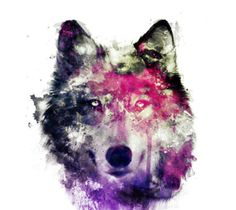 Imagem de wolf, art, and animal