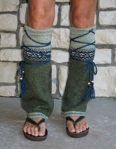 Upcycled! Tribal Flair' Leg Warmers Hippie Clothing Boho by MyMetamorphous.