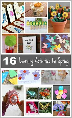 16 Spring Themed Learning Activities for Kids (Including great fine motor ideas!)