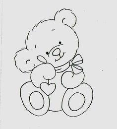 Um ursinho fofo para pintar fraldinhas.