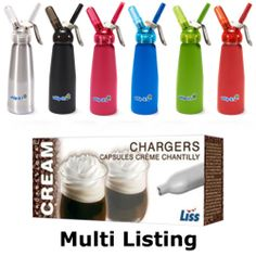 N2O NOZ Nitrous Oxide Cream Chargers & Dispensers Whippers | eBay