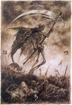 Luis Royo The labyrinth tarot -Death-