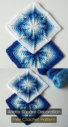 Arietis Square Decoration Free Crochet Pattern #crochet #crafts #homedecor #style #idea #project #design