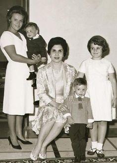 Queen Mother Zein al Sharf and her daughter-in-law Princess Muna al ...