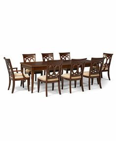 Emerson Dining Room Furniture 9 Piece Set Table 6 Side Chairs And 2